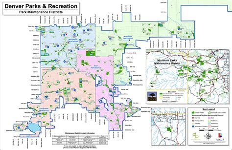 denver parks map of denver large detailed map of denver large detailed map of