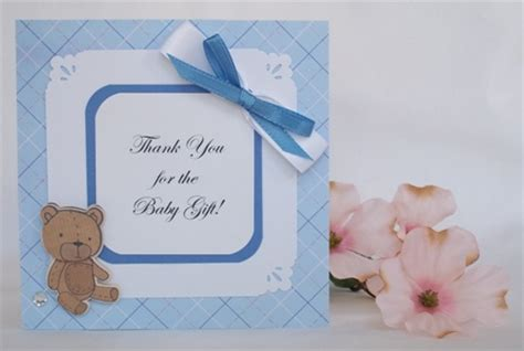 Thank You Card Baby Gift - thank you for baby gift with many cute examples of handmade cards