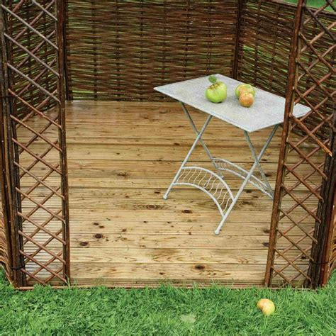 gazebo flooring rowlinson willow gazebo floor garden