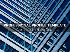 professional profile template by reusable template