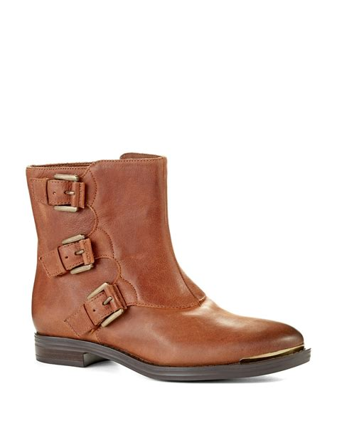 enzo boots lyst enzo angiolini elliot ankle boots in brown
