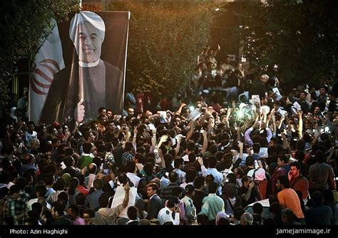 chagne celebration rohani s victory in signals desire for change