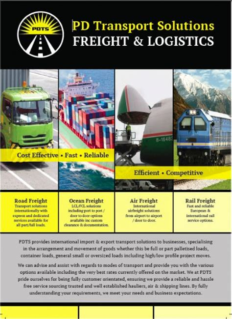 pd transport solutions freight forwarding freeindex