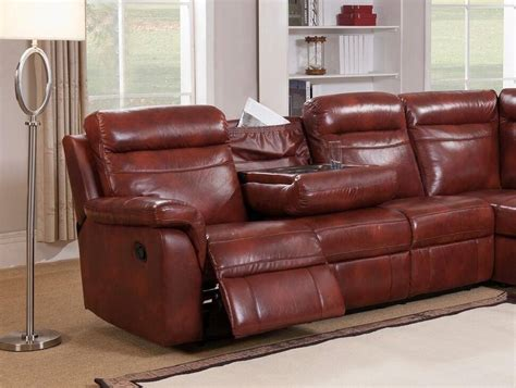 Genuine Leather Sectional Sofa by Caramel Genuine Leather Reclining Sectional Sofa W Storage