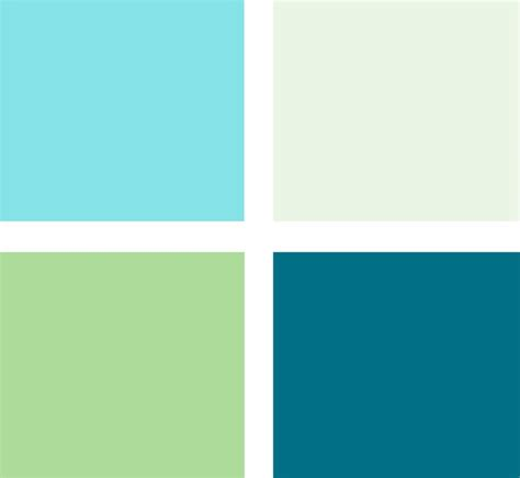 colors that work well together these perky blues and the leafy green color work well