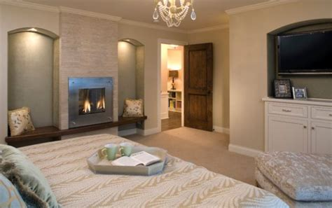 simple cozy bedroom 34 modern fireplace designs with glass for the