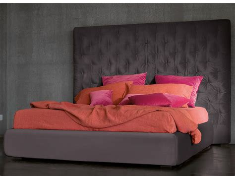 high headboard beds double bed with high headboard wing by bonaldo design