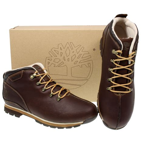 authentic mens timberland splitrock 41084 brown leather