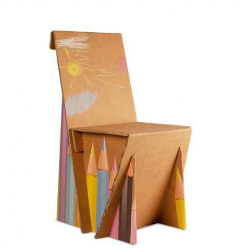 sedia fai da te idee arredamento sedia in cartone fai da te