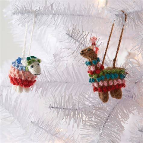 christmas ornaments highland alpaca ornament