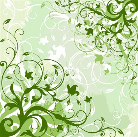 Floral In Green green floral background vector graphic free vector