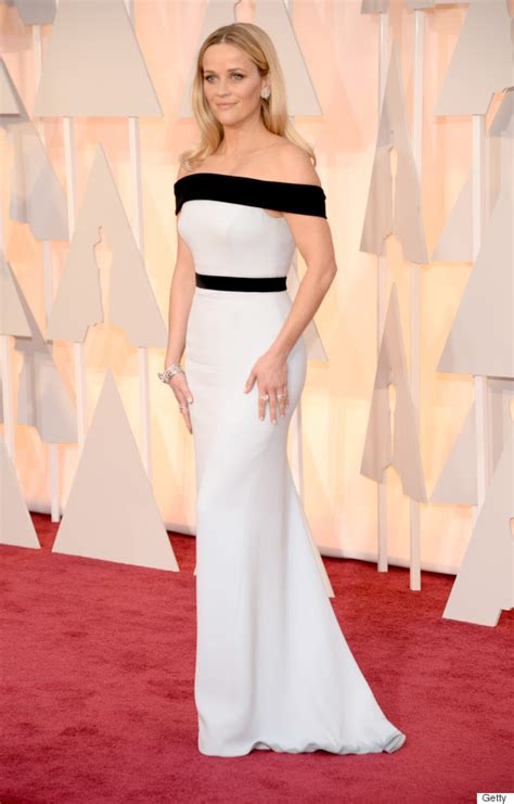 Dresses Ruled At The Oscars Get The Look For Less by Reese Witherspoon S Oscar Dress 2015 Is Black And White