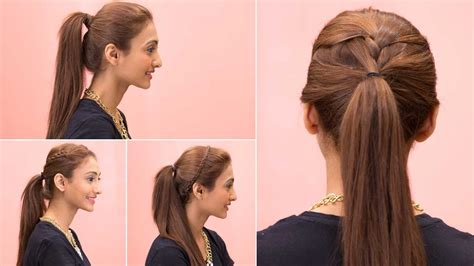 4 Easy Ponytail Hairstyles   Quick & Easy   YouTube
