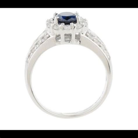 53 qvc jewelry beautiful silver diamonique sapphire
