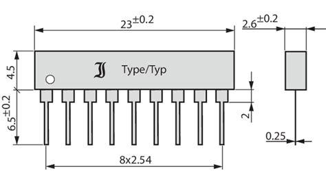 common cathode diode array buy diode array 8 diodes 9 pins common anode 150 ma diotec da814a elfa distrelec sweden