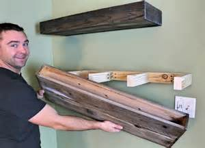 tv regal holz diy wood floating shelf how to make one