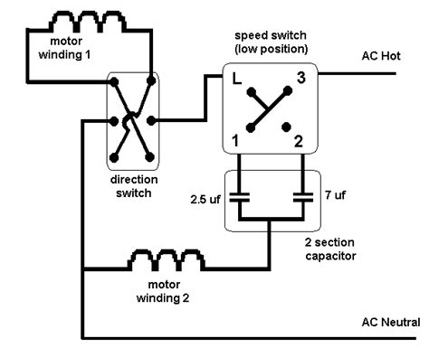 ceiling fan capacitor wiring diagram i need a wire diagram for a 3 speed 3 wire switch and diagram of capacitor for a model tfp 352
