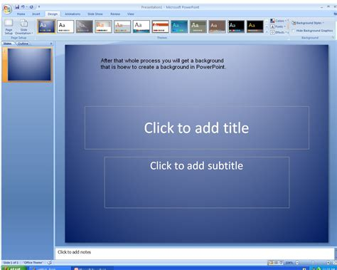 how to create themes for powerpoint 2007 devnisict how to create a background in microsoft
