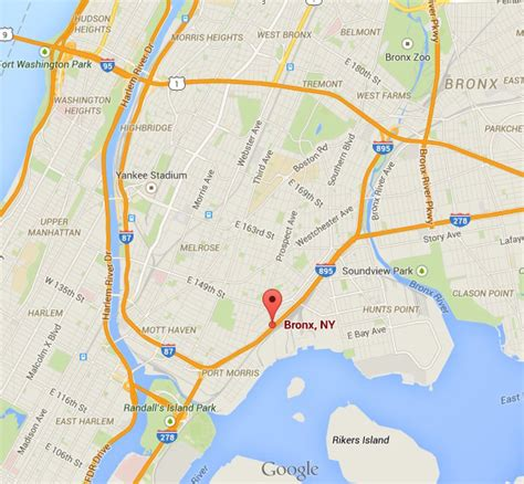Map Of New York Bronx by Ufos Buzz The Bronx Paranormal