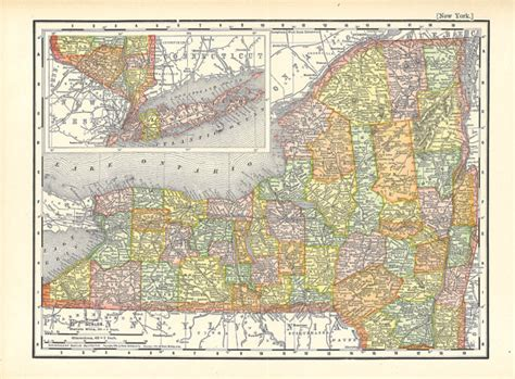 printable map of new york cakeandbloom map of new york from 1904 a printable digital download