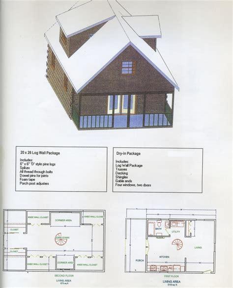 20 X 26 House Plans Carpenter Log Homes Plans