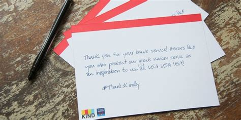 Service Member Letter Letters To Service Members Thankskindly Appreciation Month