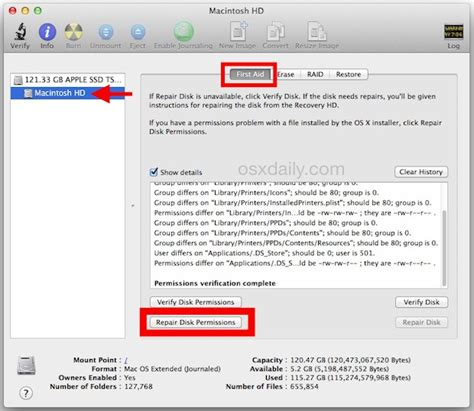 reset permissions tool how why to repair disk permissions in os x with disk utility