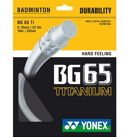 Senar Yonex Bg 68 Titanium Terpasang String Badminton Bulutangkis yonex bg 65 ti set