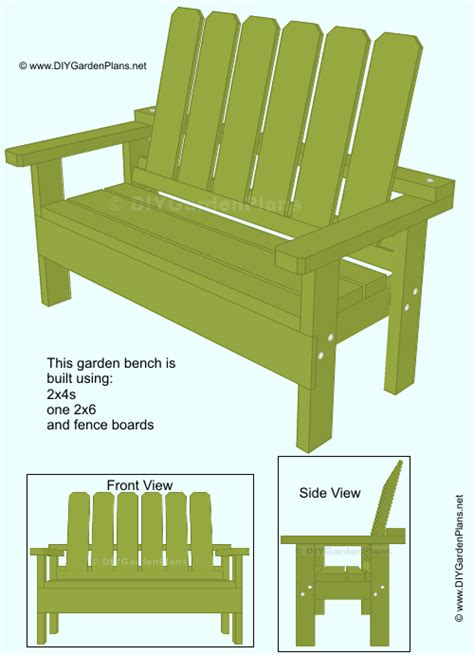 build   garden bench  plans diygardenplans