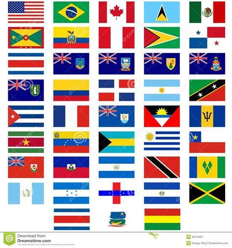 clipart bandiere bandiere dei paesi dell america illustrazione vettoriale