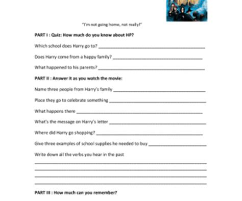 harry potter printable activity sheets movie worksheet harry potter and the philosopher s stone