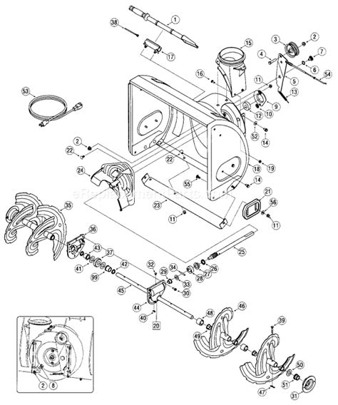 craftsman snowblower parts diagram craftsman 31am63tf799 parts list and diagram