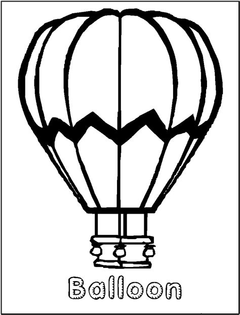 Free Printable Hot Air Balloon Coloring Pages For Kids Air Balloon Coloring Page