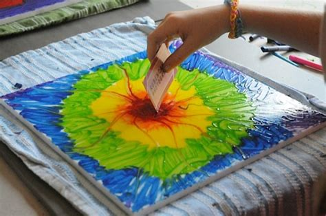 painting crafts let s make a crayon painting crayon projects