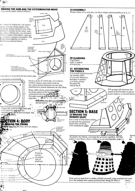 create a blueprint free tom rathborne s media creations traced daleks