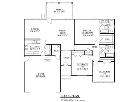 schematic floor plan southern heritage home designs house plan 1558 b the