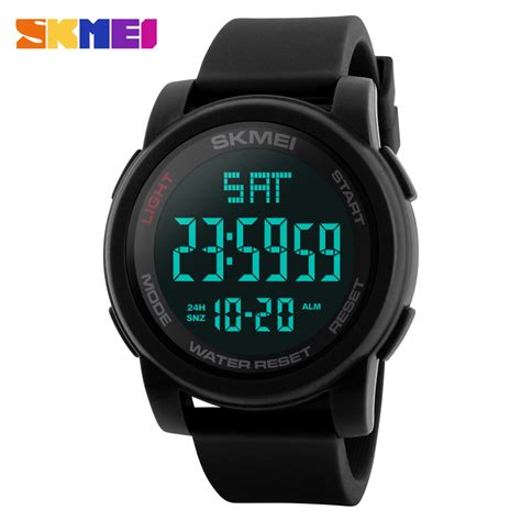 Jam Tangan Led Skmei Digital skmei jam tangan digital pria dg1257 black