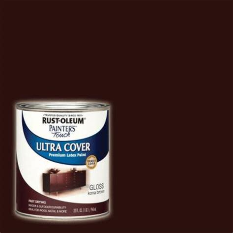rust oleum painter s touch 32 oz ultra cover gloss kona brown general purpose paint of 2