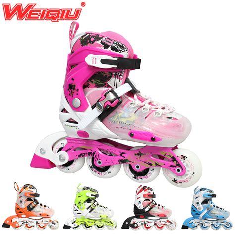 2015 weiqiu children roller skates adjustable four wheels