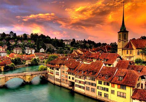 bern switzerland cityscape wallpaper  background image