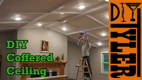 simple coffered ceiling diy simple coffered ceiling winda 7 furniture