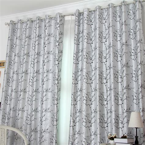 curtain tree great printing silver blackout curtains with abstract tree