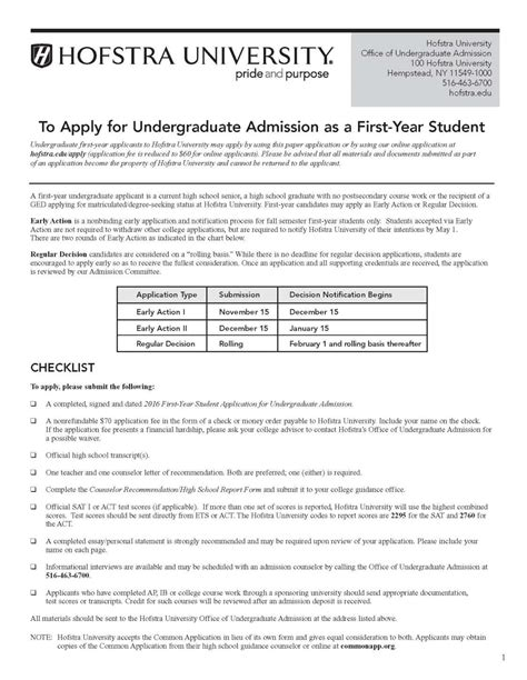 Hofstra Mba Requirements by Office Of Undergraduate Admission Html Autos Weblog
