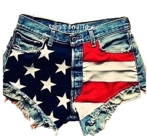 Hotpants American Eagle american flag jean shorts womens trendy clothes