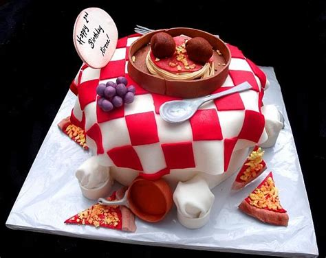 Kitchen Accessories Cupcake Design Italy Themed Cake Pizza And Italian Food Themed Fondant Cake With Edible Chef Hats