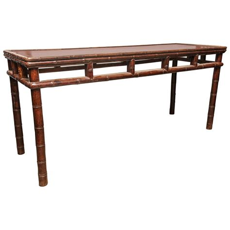 sofa table long long console table with bamboo details for sale at 1stdibs