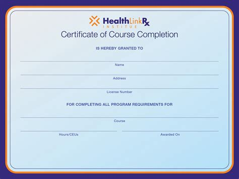 free educational certificate templates search results for free blank completion certificate