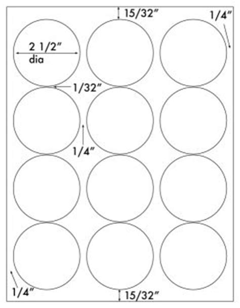 free templates for avery round labels 1 200 round labels 2 1 2 inch diameter white matte laser