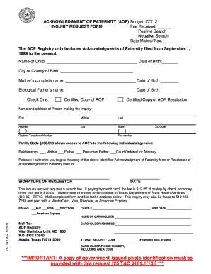 Acknowledgement Letter Paternity Vs1341 Fill Printable Fillable Blank Pdffiller
