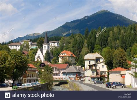 houses to buy in austria houses and church in city gailtal hermagor carinthia austria stock photo royalty